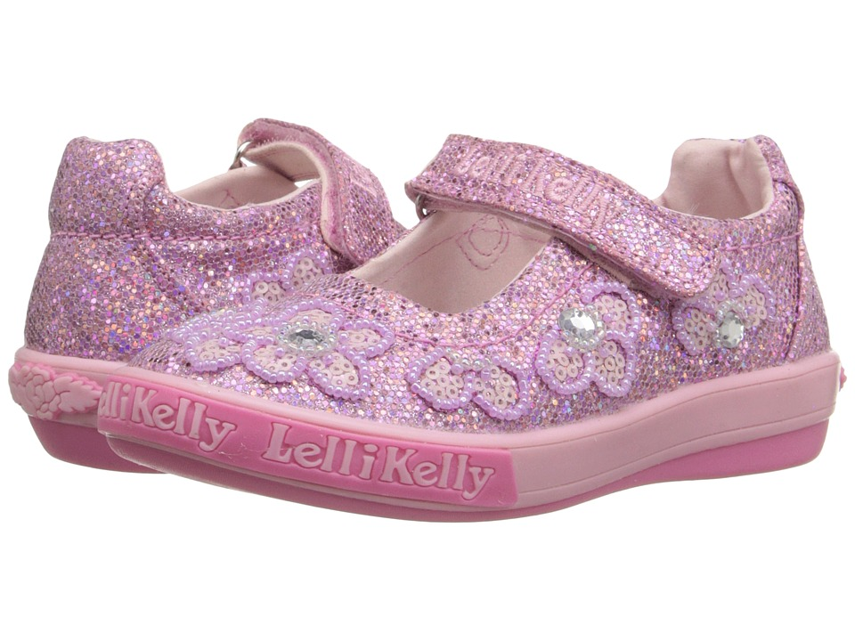 Lelli Kelly Kids - Fiore Dolly (Toddler/Little Kid) (Pink Glitter) Girls Shoes