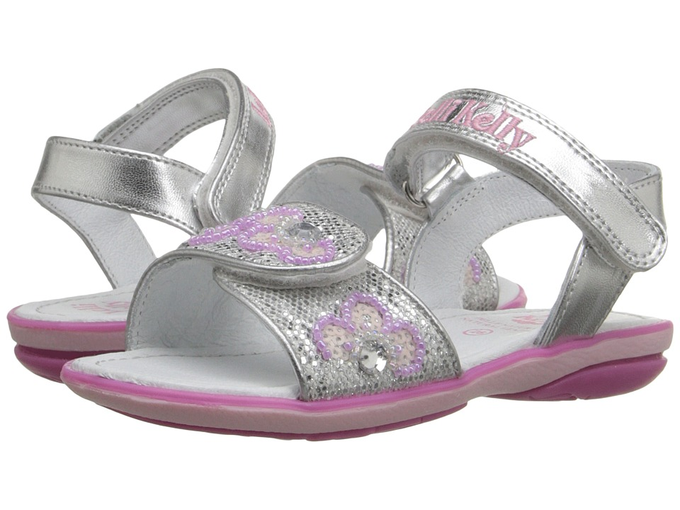 Lelli Kelly Kids - Fiore Sandal (Toddler/Little Kid) (Silver Glitter) Girls Shoes