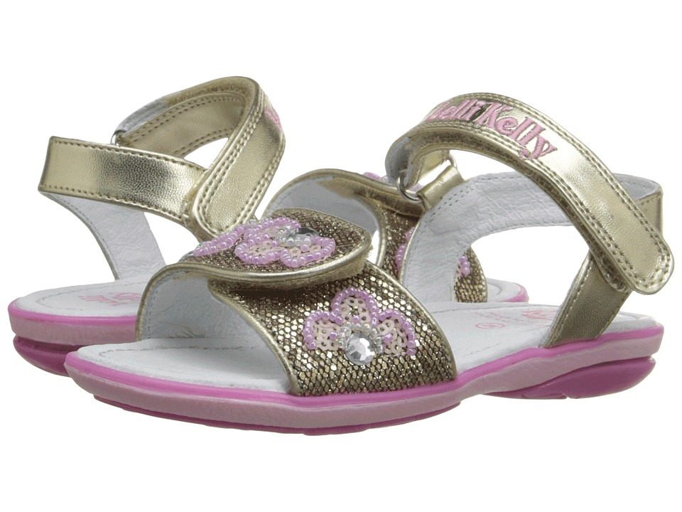 Lelli Kelly Kids - Fiore Sandal (Toddler/Little Kid) (Gold Glitter) Girls Shoes