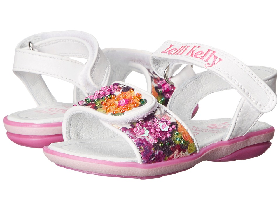Lelli Kelly Kids - Bella Sandal (Toddler/Little Kid) (White Fantasy) Girls Shoes