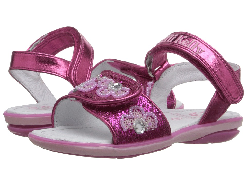 Lelli Kelly Kids - Fiore Sandal (Toddler/Little Kid) (Fuchsia Glitter) Girls Shoes
