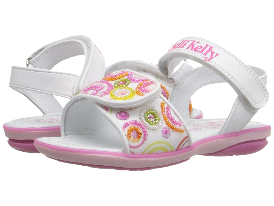 Lelli Kelly Kids - Puntini Sandal (Toddler/Little Kid) (White Fantasy) Girls Shoes