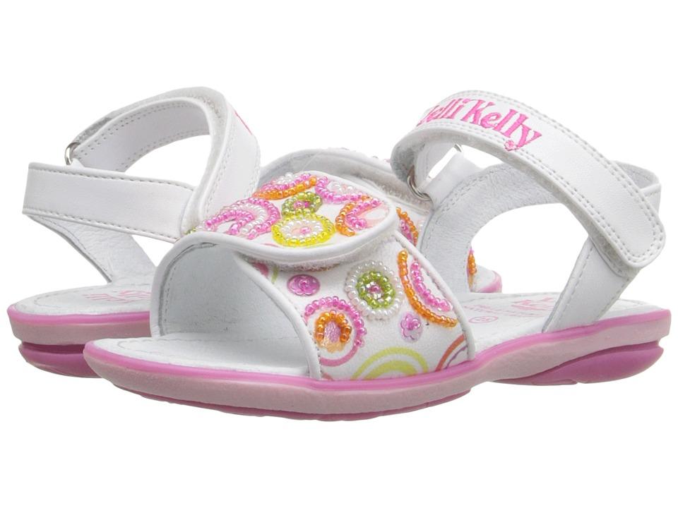 Lelli Kelly Kids - Puntini Sandal (Toddler/Little Kid) (White Fantasy) Girls Shoes