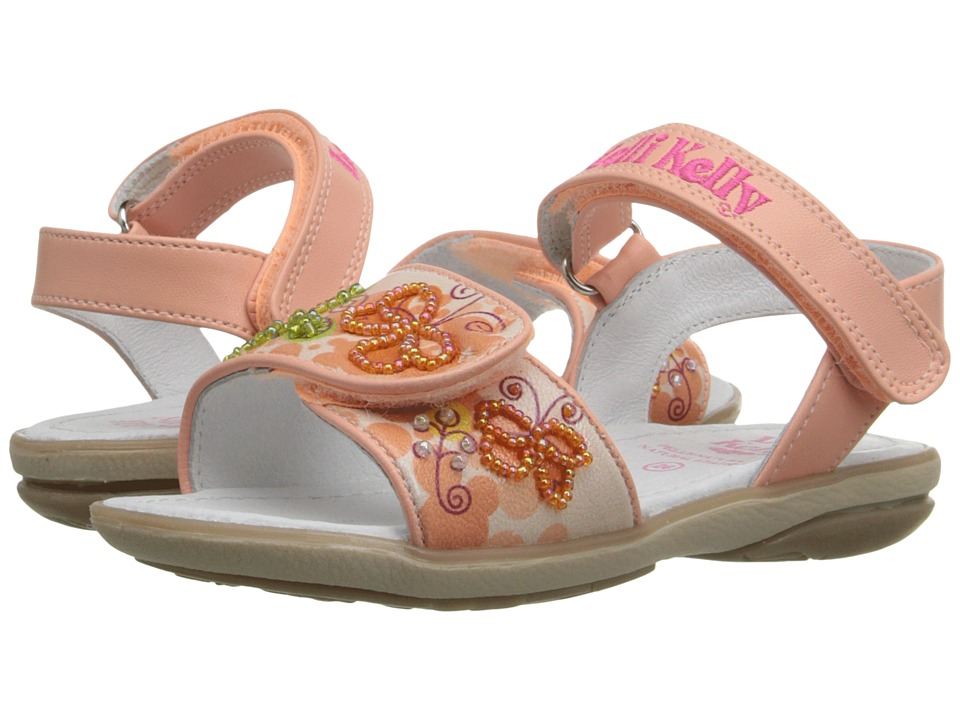 Lelli Kelly Kids - Giardino Sandal (Toddler/Little Kid) (Peach Fantasy) Girls Shoes