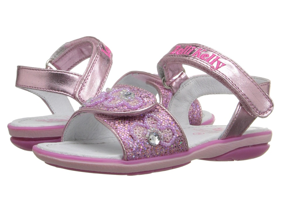Lelli Kelly Kids - Fiore Sandal (Toddler/Little Kid) (Pink Glitter) Girls Shoes