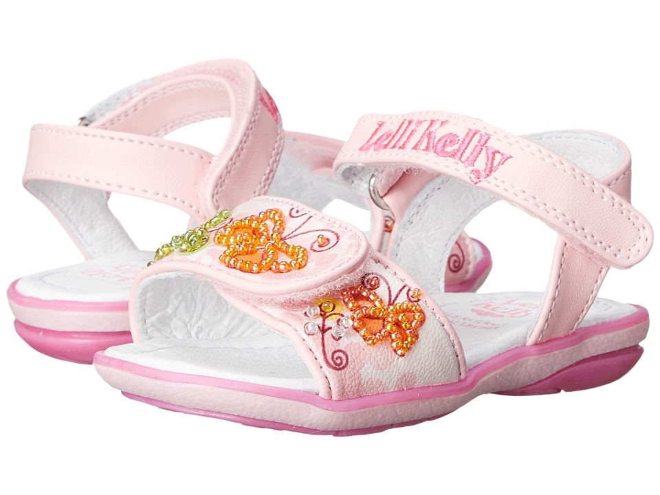 Lelli Kelly Kids - Giardino Sandal (Toddler/Little Kid) (Pink Fantasy) Girls Shoes