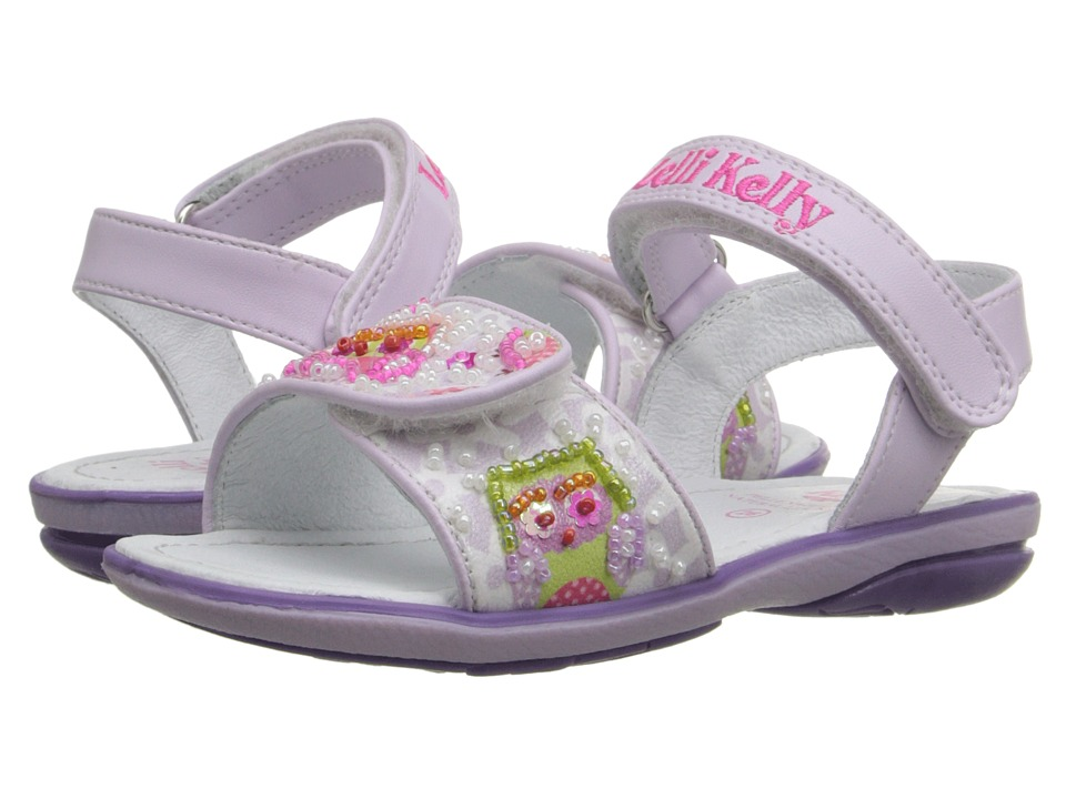 Lelli Kelly Kids - Owls Sandal (Toddler/Little Kid) (Lilac Fantasy) Girls Shoes