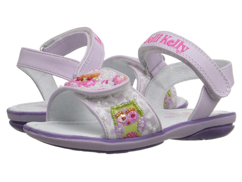 Lelli Kelly Kids - Owls Sandal (Toddler/Little Kid) (Lilac Fantasy) Girls Shoes