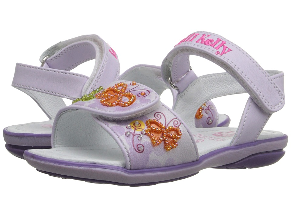 Lelli Kelly Kids - Giardino Sandal (Toddler/Little Kid) (Lilac Fantasy) Girls Shoes