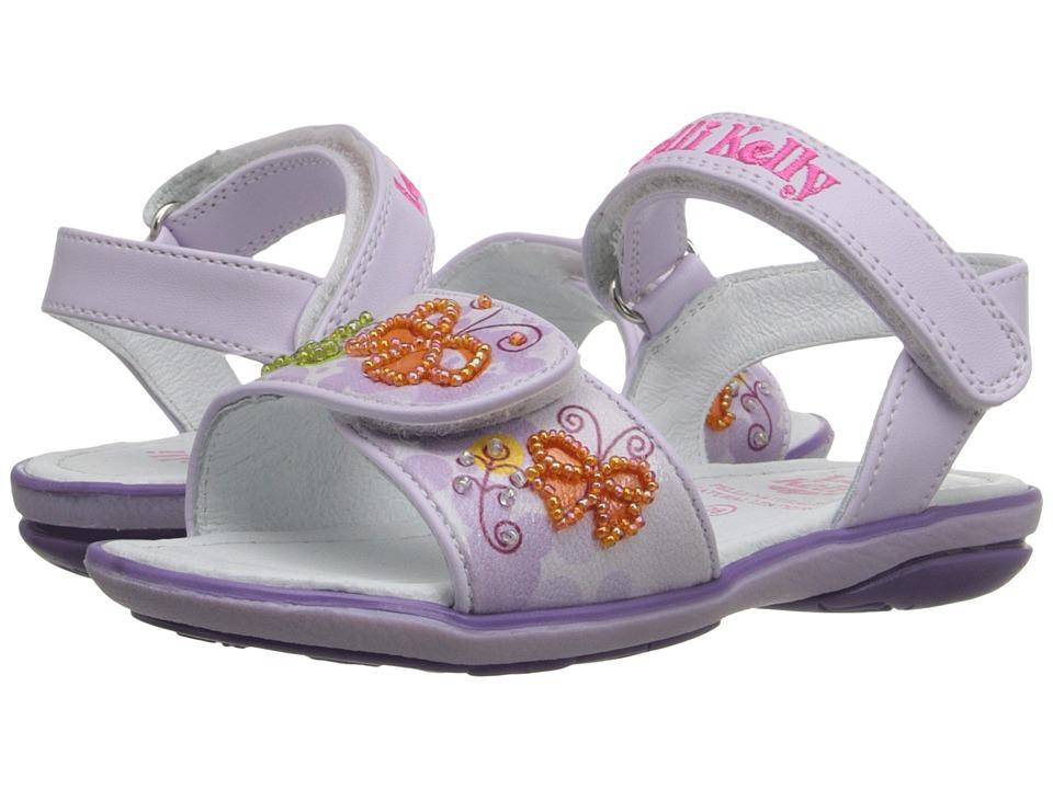 Lelli Kelly Kids - Giardino Sandal (Toddler/Little Kid) (Lilac Fantasy) Girls Shoes