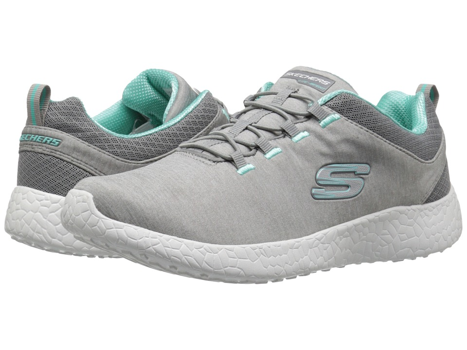 SKECHERS - Energy Burst (Gray/Mint) Women's Lace up casual Shoes