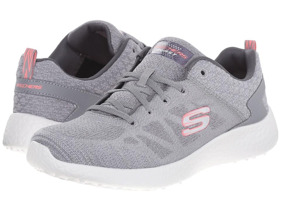 SKECHERS - Burst (Gray) Women's Shoes