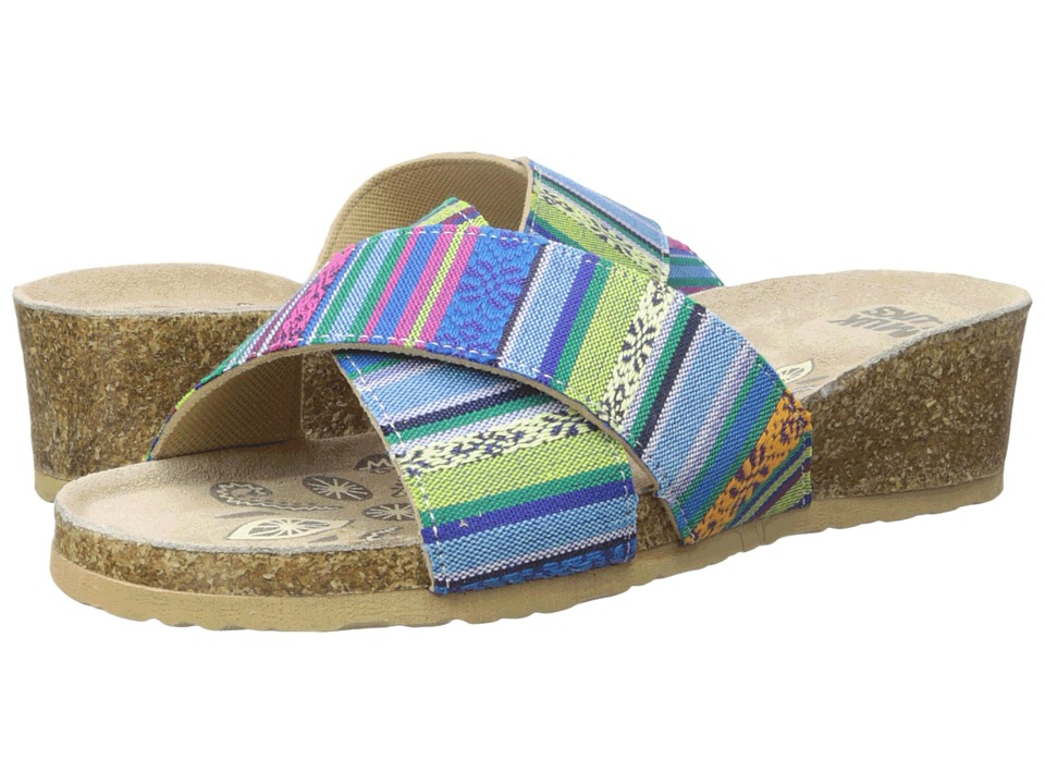 MUK LUKS - Helene (Multi) Women's Wedge Shoes