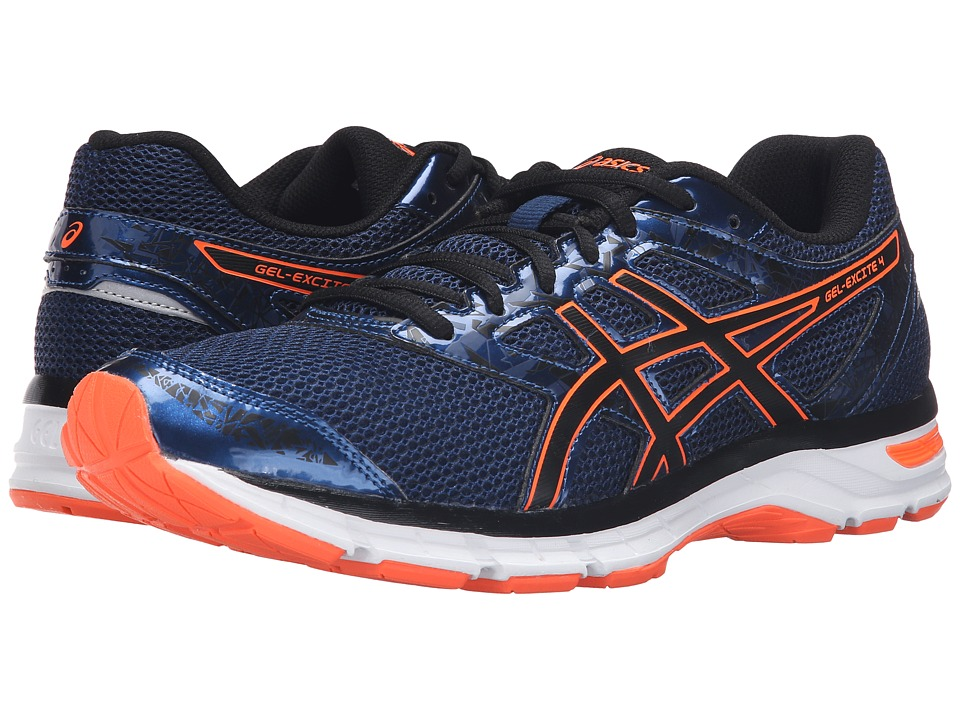 ASICS - Gel-Excite 4 (Poseidon/Black/Hot Orange) Men's Running Shoes