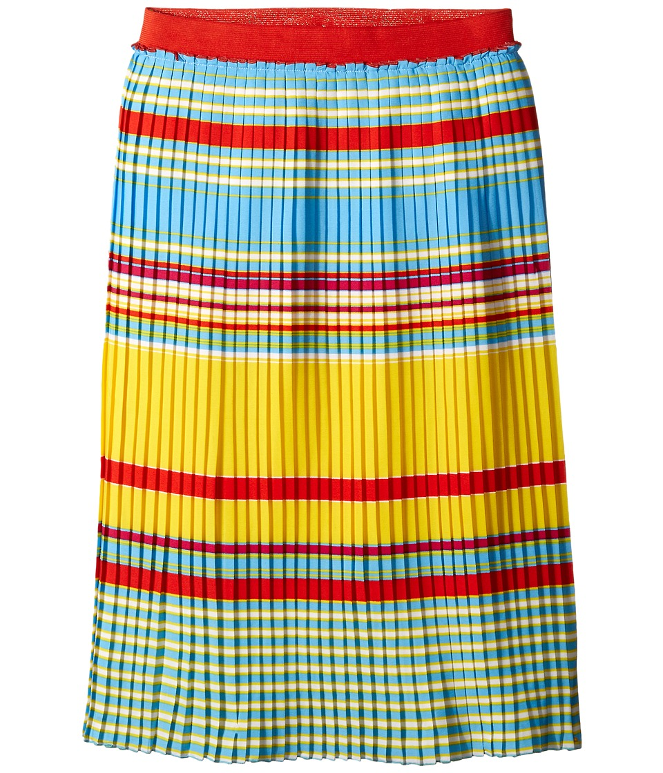 Little Marc Jacobs - Crepe Skirt Stripes Print (Little Kids/Big Kids) (Multicolor) Girl's Skirt