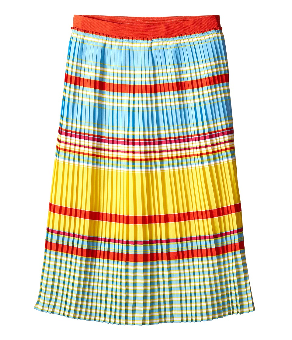 Little Marc Jacobs - Crepe Skirt Stripes Print (Big Kids) (Multicolor) Girl's Skirt