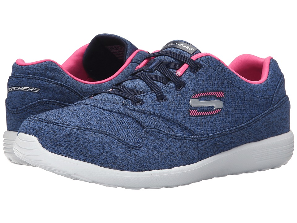 SKECHERS - Stardust - Cruising (Navy/Pink) Women's Shoes