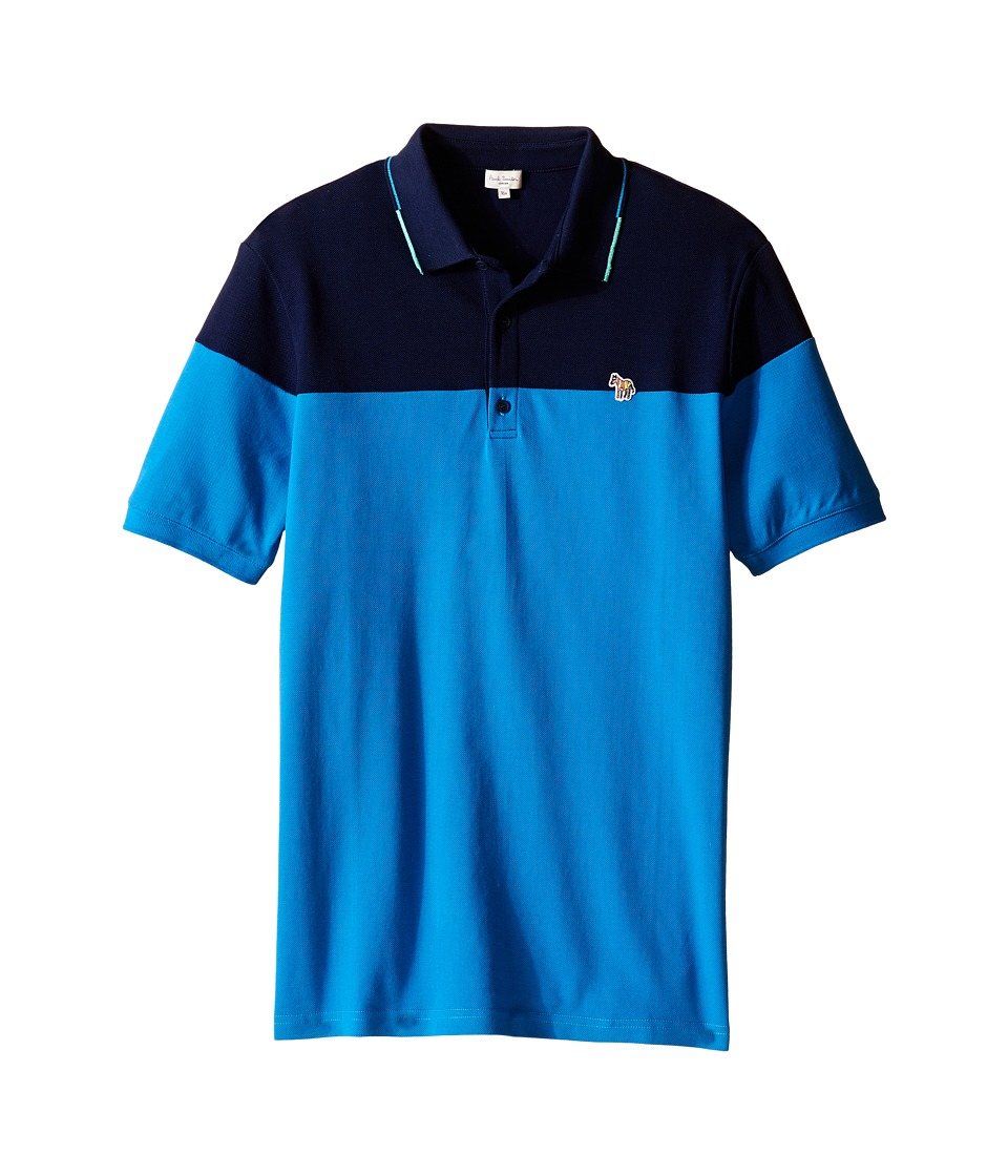 Paul Smith Junior - Pique Polo Shirt (Big Kids) (Blue Grey) Boy