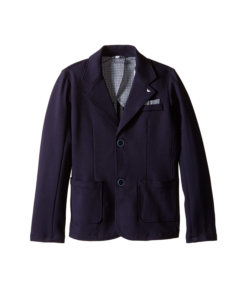 Armani Junior - Navy Jersey Blazer (Toddler/Little Kids/Big Kids) (Indigo) Boy's Jacket