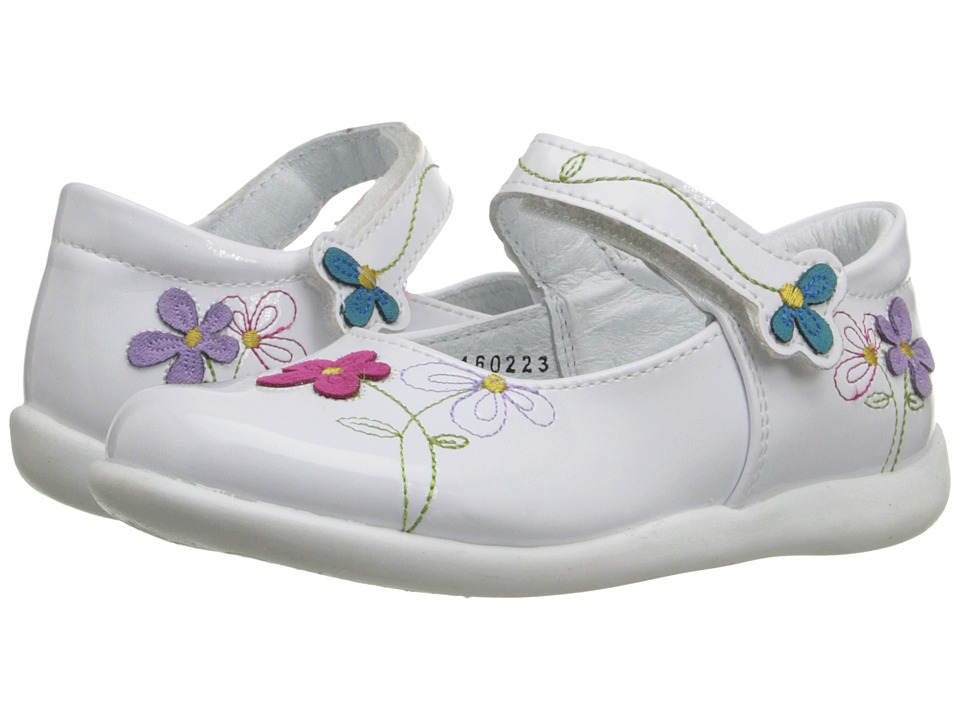 Kid Express - Primrose (Toddler/Little Kid) (White Patent) Girl's Shoes
