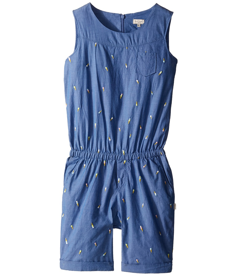 Paul Smith Junior - Denim Romper (Big Kids) (Blue) Girl's Jumpsuit & Rompers One Piece