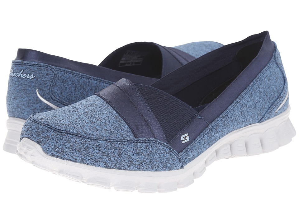 SKECHERS - EZ Flex 2 - Fascination (Navy) Women's Slip on Shoes