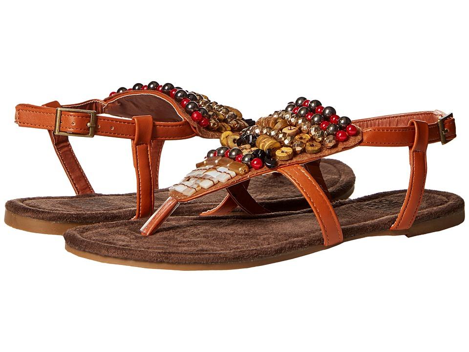 MUK LUKS Harlow Beaded Sandal (Brown) Women