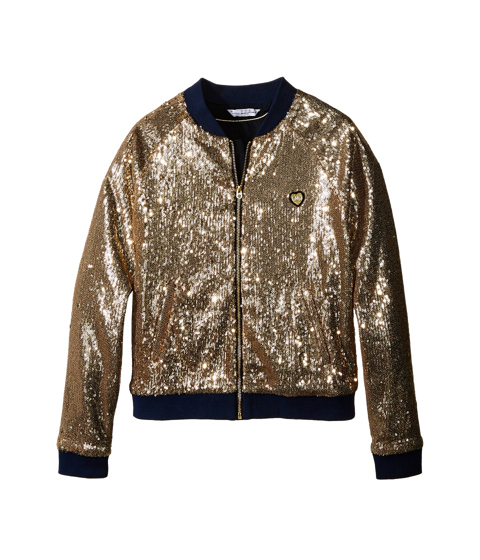 Little Marc Jacobs - Crepe Teddy All Over Sequin (Little Kids/Big Kids) (Gold) Girl's Coat
