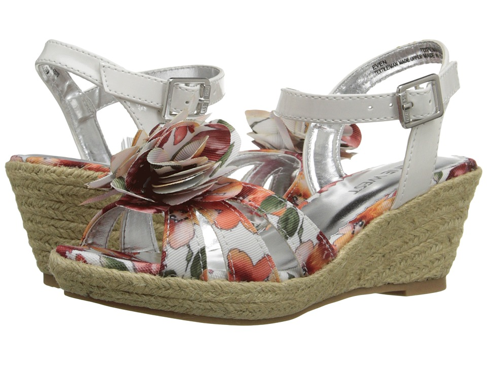 Nine West Kids - Even (Little Kid/Big Kid) (White Floral) Girls Shoes