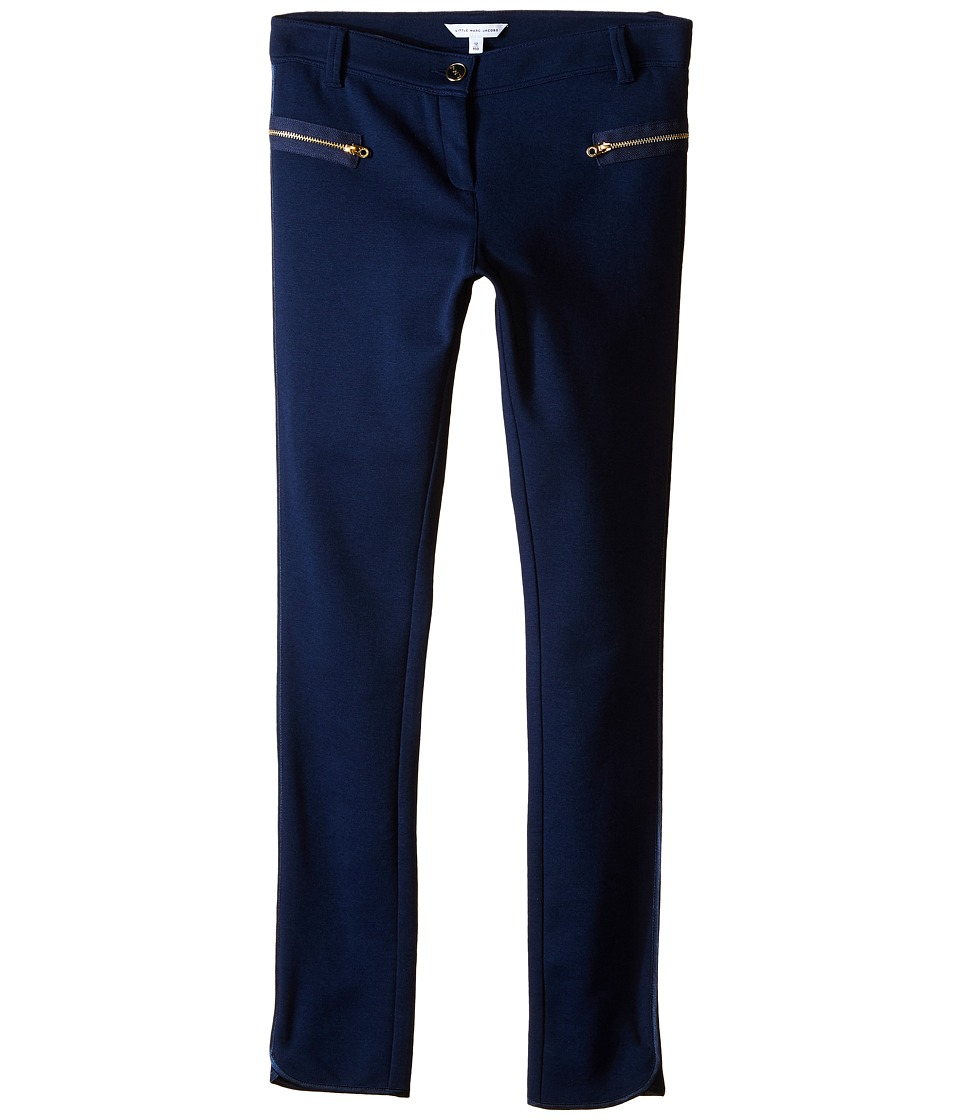 Little Marc Jacobs - Milano Trousers (Big Kids) (Dark Blue) Girl's Casual Pants