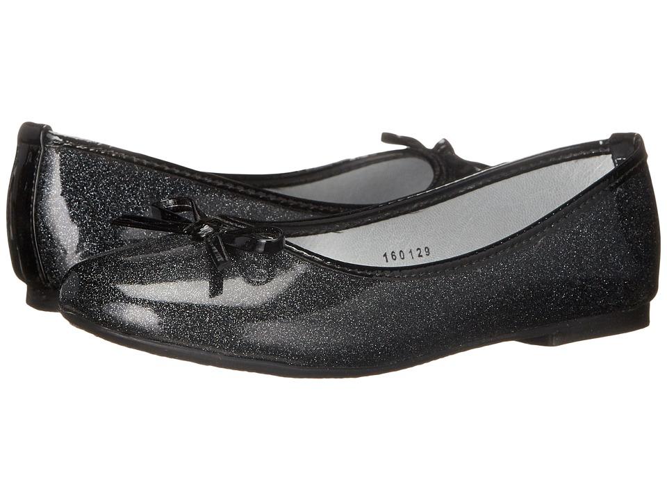 Kid Express - Jojo (Little Kid/Big Kid) (Black Glitter Patent) Girl's Shoes