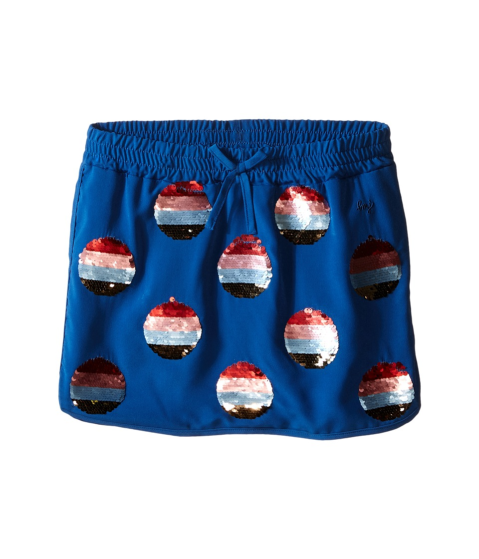 Little Marc Jacobs - Crepe Skirt All Over Sequined (Little Kids/Big Kids) (Dark Blue) Girl's Skirt