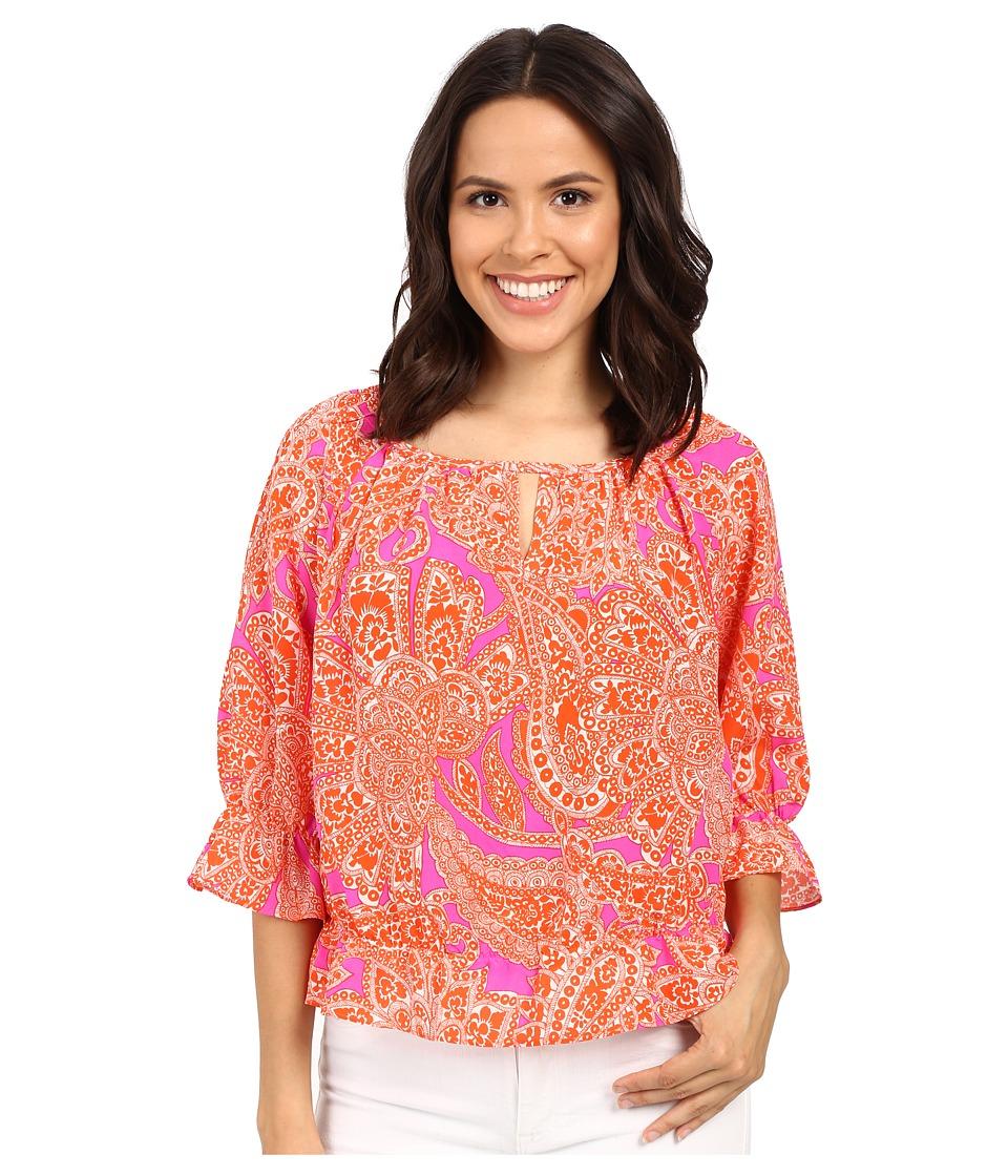 Trina Turk - Baez Top (Scorpio Orange) Women's Clothing