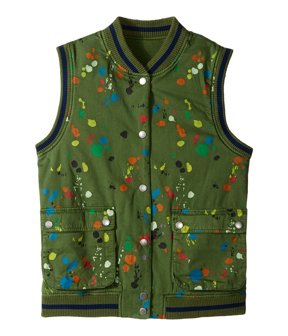 Stella McCartney Kids - Rhubarb Paint Splatter Reversible Vest (Toddler/Little Kids/Big Kids) (Khaki) Boy's Vest