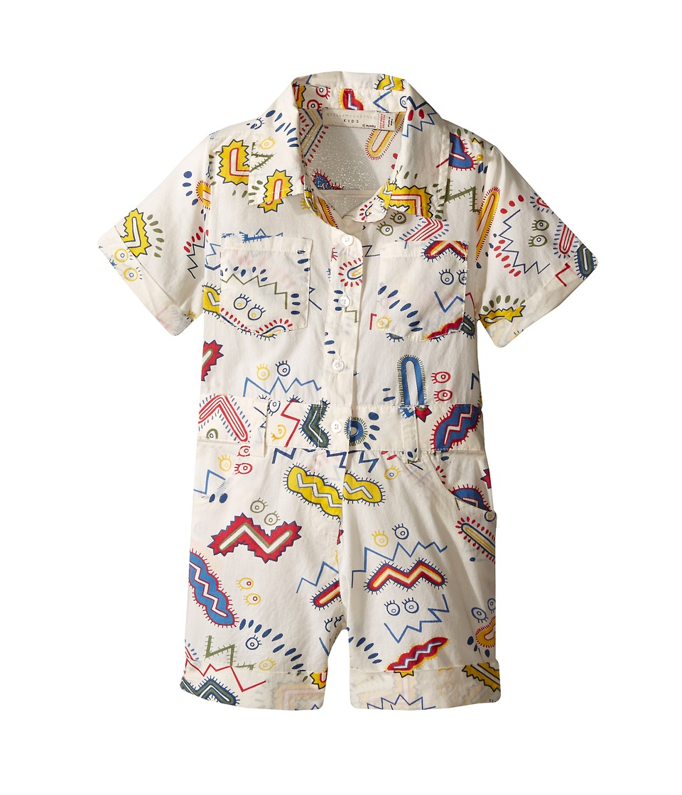 Stella McCartney Kids - James Zigzag Print Romper (Infant) (White) Boy's Jumpsuit & Rompers One Piece
