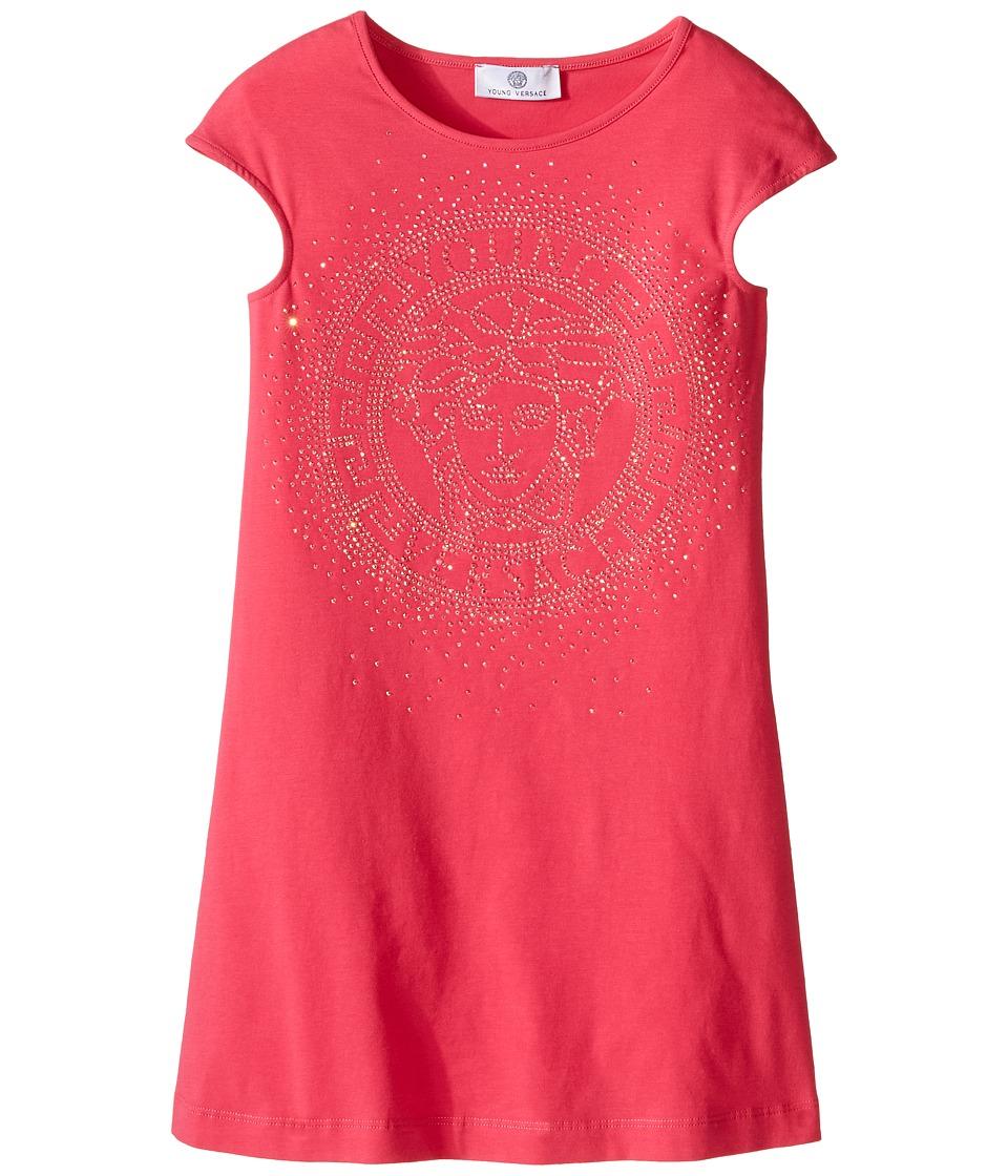 Versace Kids - Dress with Medusa Logo Stone Design (Big Kids) (Fuchsia) Girl's Dress