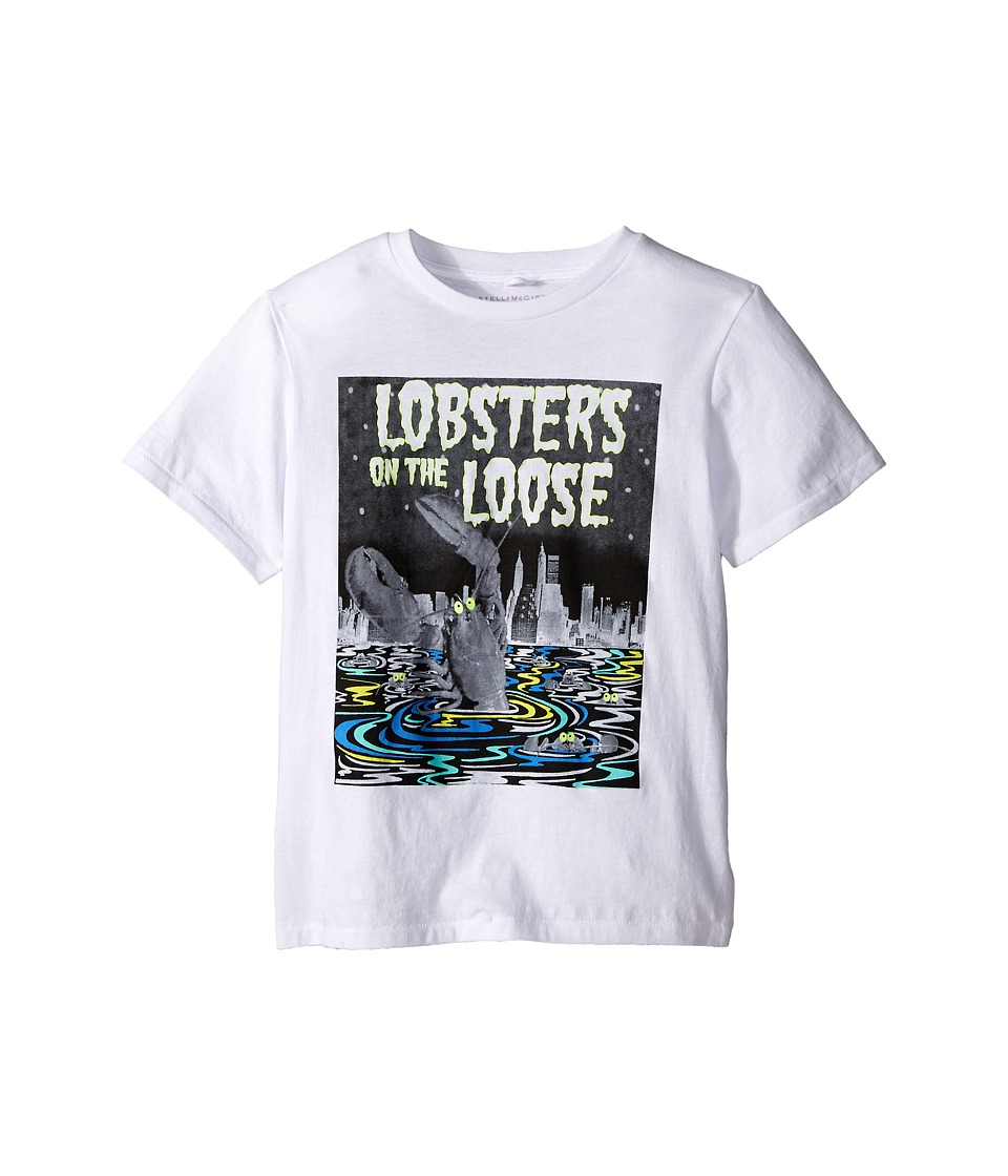 Stella McCartney Kids - Arlo Lobster on the Loose Short Sleeve Tee (Toddler/Little Kids/Big Kids) (White) Boy's Short Sleeve Pullover