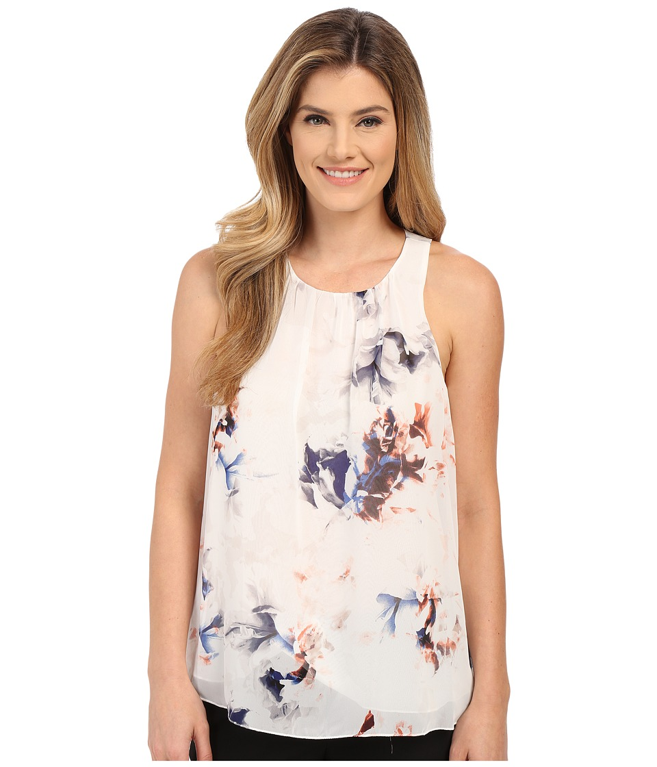 Vince Camuto - Sleeveless Floral Breeze Blouse (New Ivory) Women's Blouse