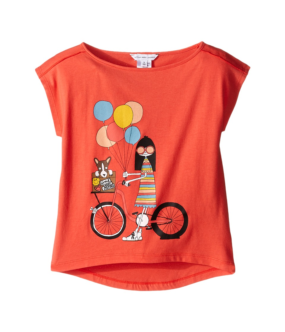 Little Marc Jacobs - Ms Marc Graphic Tee (Toddler/Little Kids) (Red Bike) Girl's T Shirt