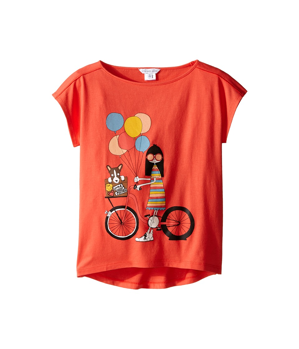 Little Marc Jacobs - Ms Marc Graphic Tee (Little Kids/Big Kids) (Red Bike) Girl's T Shirt