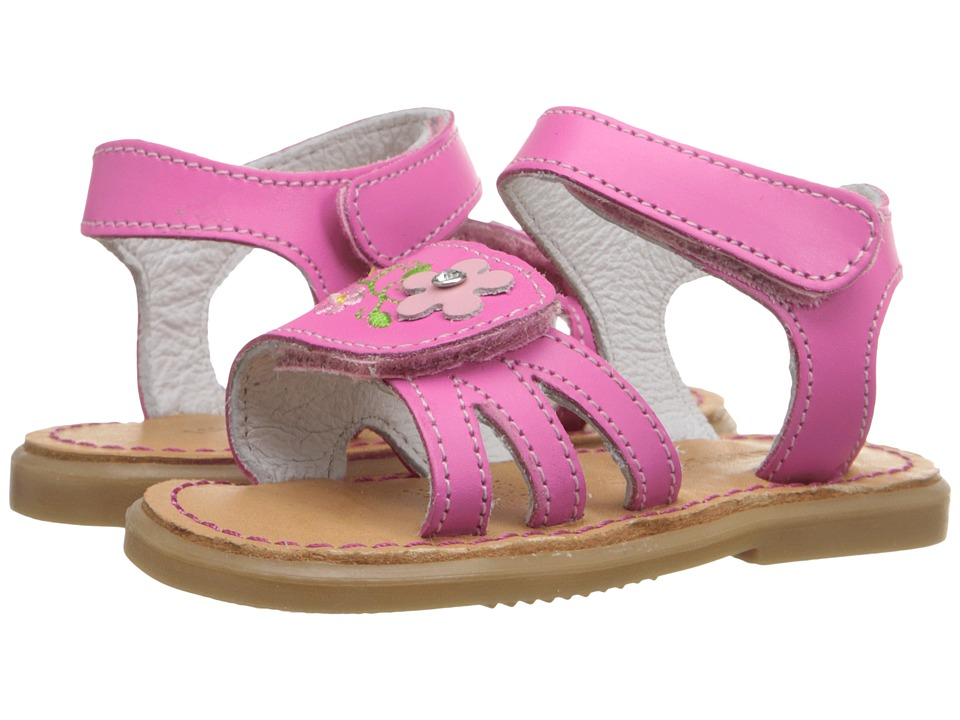 Kid Express - Bernardine (Infant/Toddler) (Fuchsia Leather) Girls Shoes