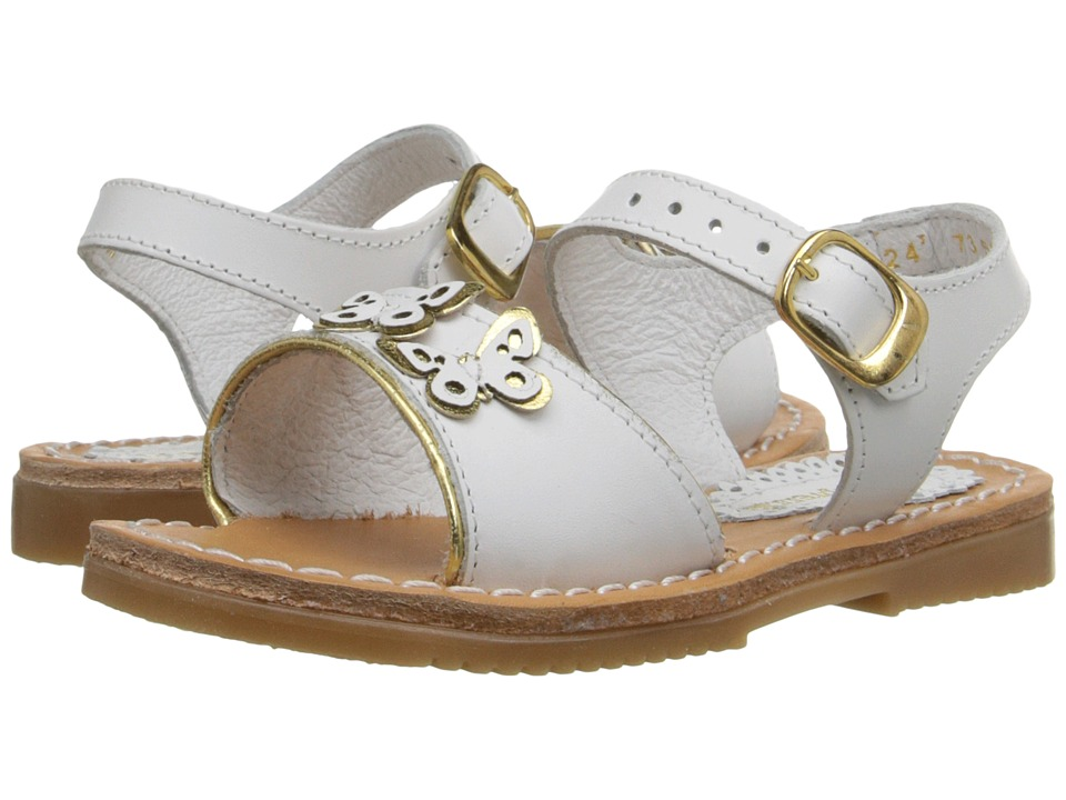 Kid Express - Ophelia (Toddler/Little Kid/Big Kid) (White Leather) Girls Shoes