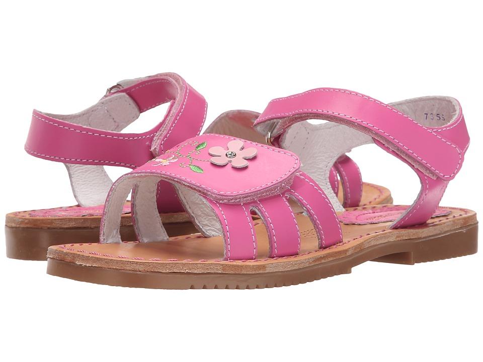 Kid Express - Floretta (Toddler/Little Kid/Big Kid) (Fuchsia Leather) Girls Shoes