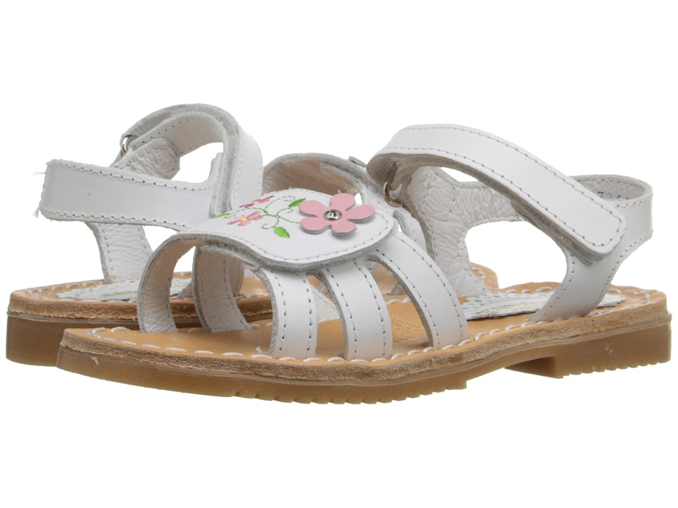 Kid Express - Floretta (Toddler/Little Kid/Big Kid) (White Leather) Girls Shoes