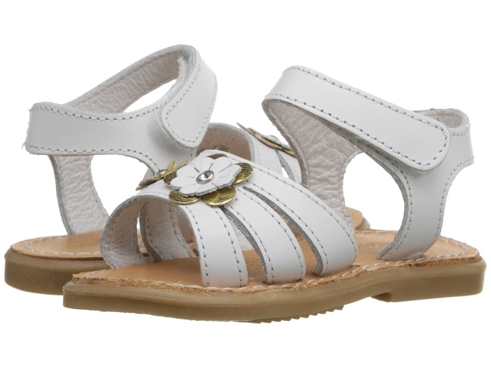 Kid Express - Alina (Infant/Toddler) (White Leather) Girls Shoes
