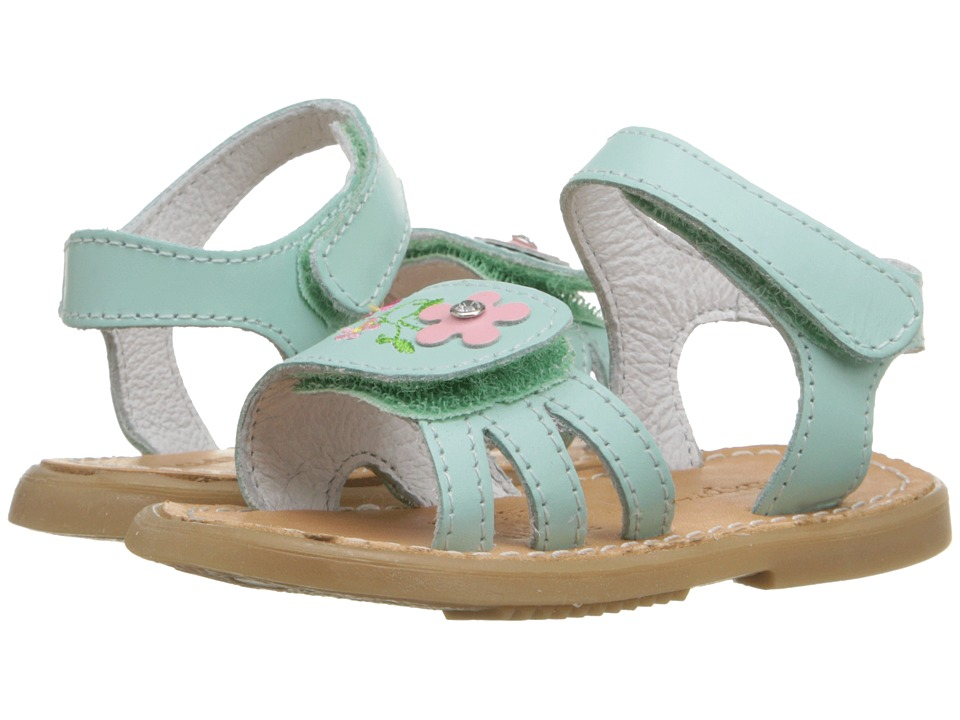 Kid Express - Bernardine (Infant/Toddler) (Mint Leather) Girls Shoes