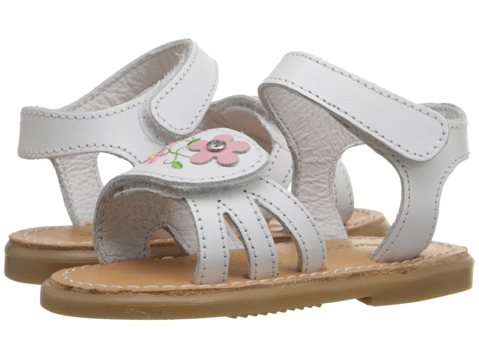 Kid Express - Bernardine (Infant/Toddler) (White Leather) Girls Shoes