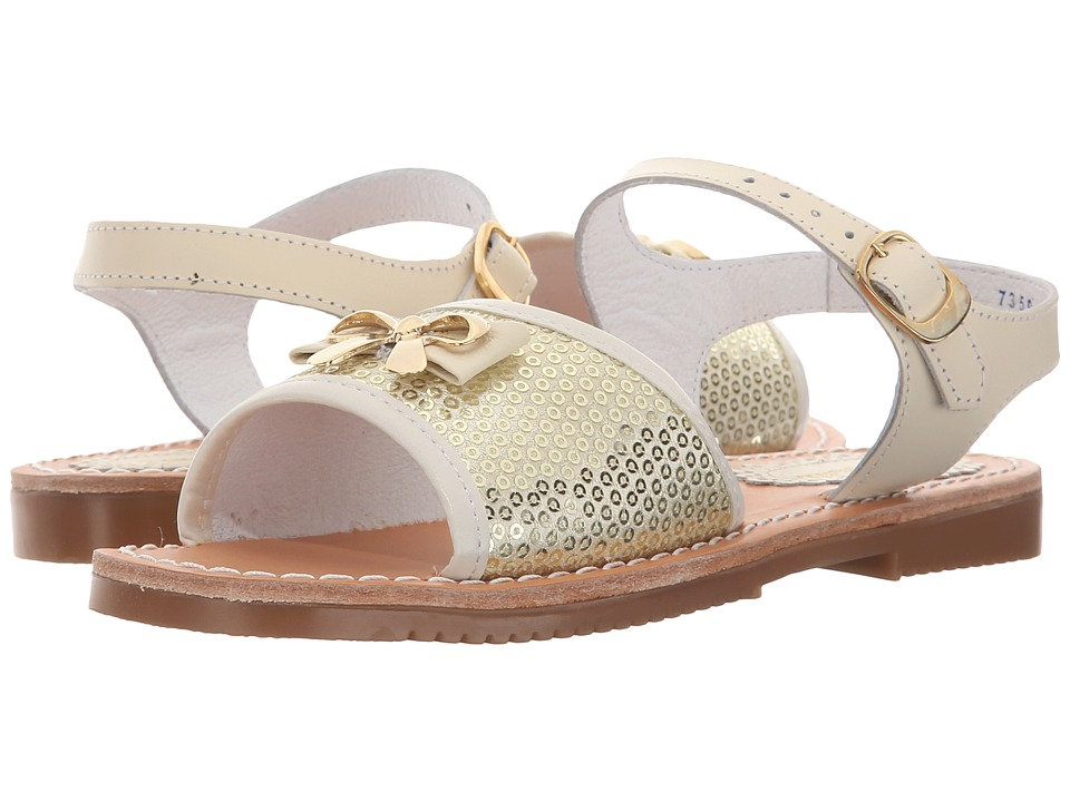 Kid Express - Nara (Toddler/Little Kid/Big Kid) (Ivory Combo) Girls Shoes
