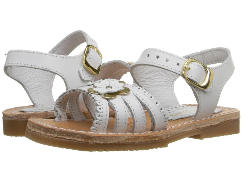 Kid Express - Odelia (Toddler/Little Kid/Big Kid) (White Leather) Girls Shoes
