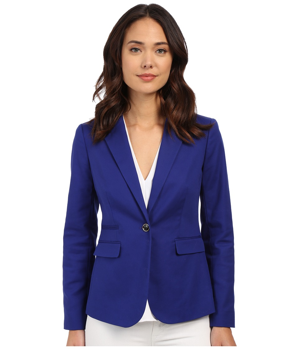 Vince Camuto - One Button Blazer (Vivid Indigo) Women